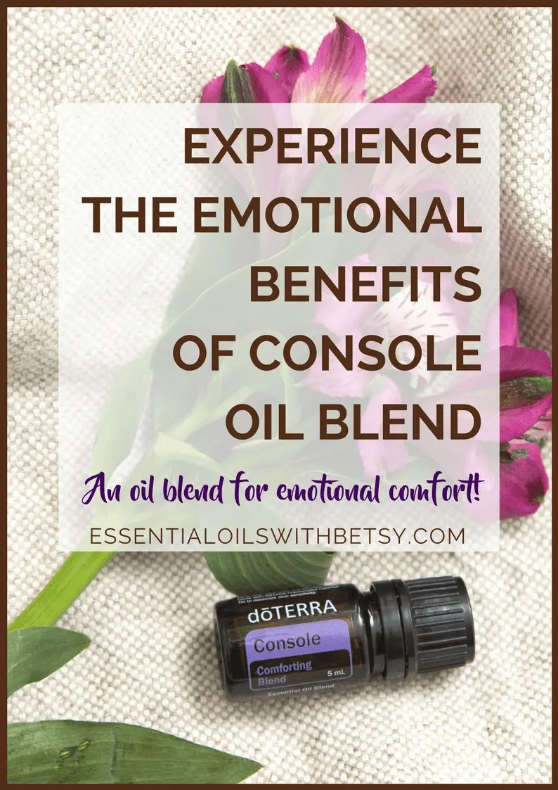 Have you ever tried doTERRA Console comforting oil blend? It's an essential oil blend that I feel everyone should have on hand. We never enjoy experiencing sad feelings! Console comforting oil blend is what I need when I am having a rough day. I'm so thankful we have anemotional blend for comfort!