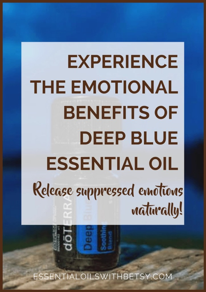 Deep Blue Emotional Benefits Using essential oils for our emotions can be very powerful and therapeutic.  This post will explore the emotional benefits of doTERRA Deep Blue oil blend.  You can decide for yourself whether you would benefit from the Deep Blue emotional benefits.  I've always been very grateful that I discovered Deep Blue for emotions when I first started using doTERRA essential oils. Emotions Associated With Deep Blue Oil