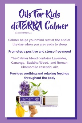 Oils for Kids - doTERRA Calmer blend | Calmer helps your mind rest at the end of the day when you are ready to sleep | Promotes a positive and stress-free mood | The Calmer blend containsLavender, Cananga, Buddha Wood, and Roman Chamomileessential oils | Provides soothing and relaxing feelings throughout the body