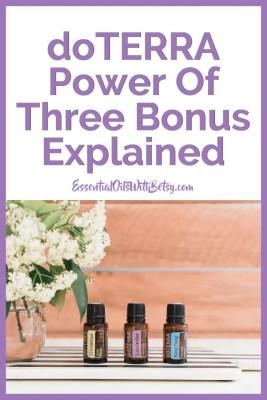 doTERRA Power Of Three Bonus Check Explained