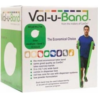 Low Powder Resistitive Exercise Bands, 5″x50 Yards, Lime, EACH