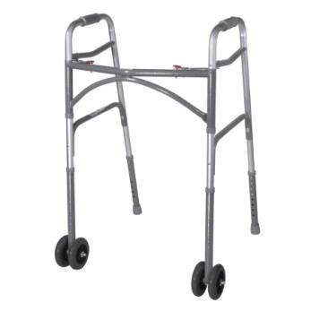 Heavy Duty Bariatric Aluminum Walker W/ Wheels, CASE OF 2