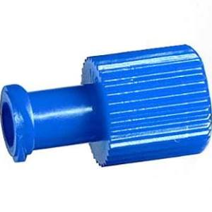 Dual Function Male And Female End Blue Luer Cap, CASE OF 1000