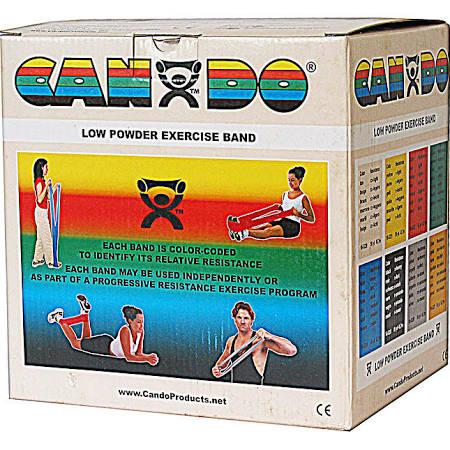Low Powder Resistive Exercise 5″x50 Yards Bands, Tan