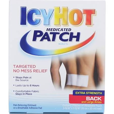 Icy Hot Extra Strength Pain Reliever Patch, PACK OF 5
