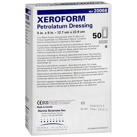5″x9″ Xeroform Petrolatum Pleated Mesh Gauze Dressing, BOX OF 50