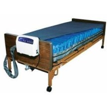 Bed Mattress System Med-Aire Plus Alternating Pressure Mattress, 450 Lbs