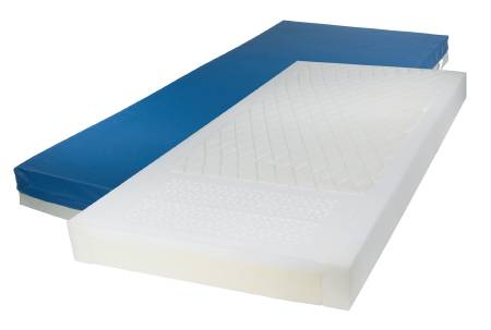 Multi-Zoned Foam Mattress, 80″x36″x6″ With 3″ Elevated Perimeter And Cutout