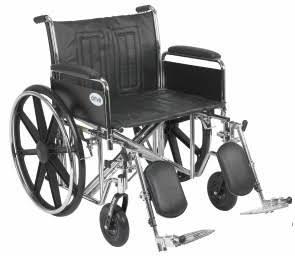 Bariatric Wheelchair Sentra EC Detachable Full Arms 22″,450 Lb