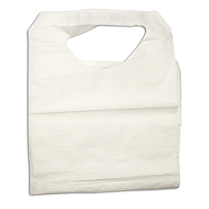 Tie-On Lap Bibs, 16″x33″, Paper/Poly, CASE OF 300