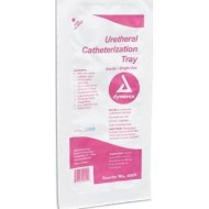 Urethral Catheterization Tray PVP 14FR, CASE OF 20