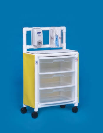 Innovative Products Unlimited PVC Isolation Cart 26″x 45″x15″ With 3 Drawers