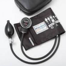 2-Tube Adult Arm Aneroid Sphygmomanometer Pole Mounted, EACH