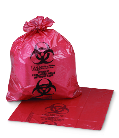 Ultra Tuff Infection Waste Bag, 11″x14″, CASE OF 500