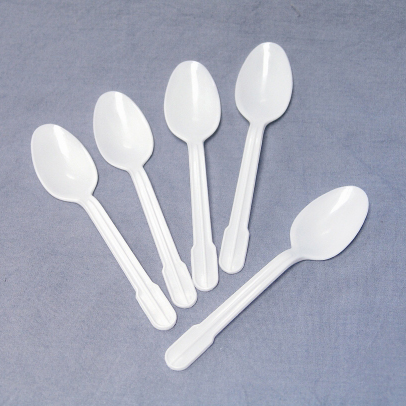 5″ White Plastic Teaspoons, CASE OF 1000