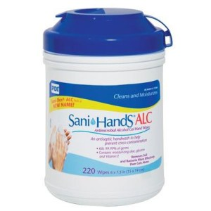 Sani-Hands ALC Sanitizing Skin Alcohol Wipes, Large Canister, CASE OF 1320