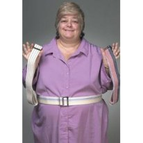 60″ White Cotton Gait Belt, EACH