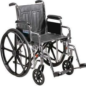 Wheelchair Sentra EC Heavy Duty, Bariatric, 24″ Wide, 450 Lb