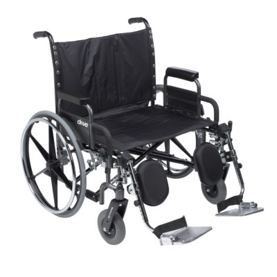 26″ Sentra EC Heavy-Duty Extra Wide Bariatric Wheelchair With Desk Arm