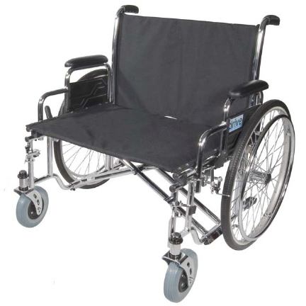 26″ Sentra EC Heavy-Duty Extra Wide Bariatric Wheelchair With Full Arms
