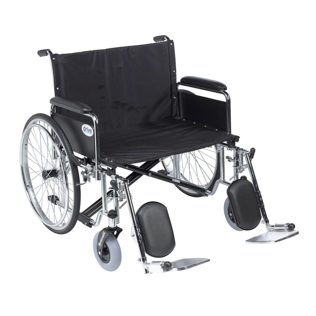 28″ Sentra EC Heavy-Duty Extra Wide Bariatric Wheelchair With Full Arms
