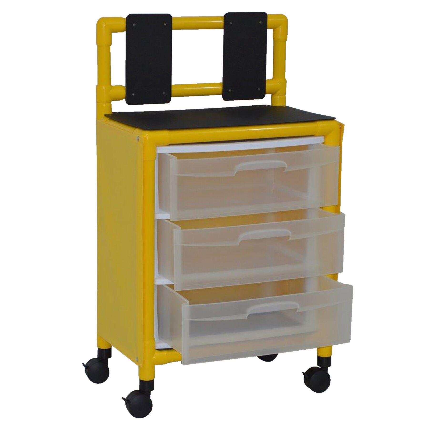 Yellow Isolation Cart Station