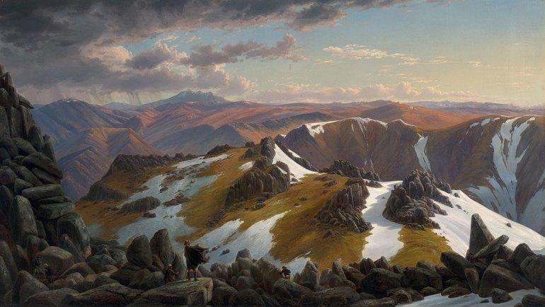 Eugene von Guérard - North-east view from the northern top of Mount Kosciusko 1863