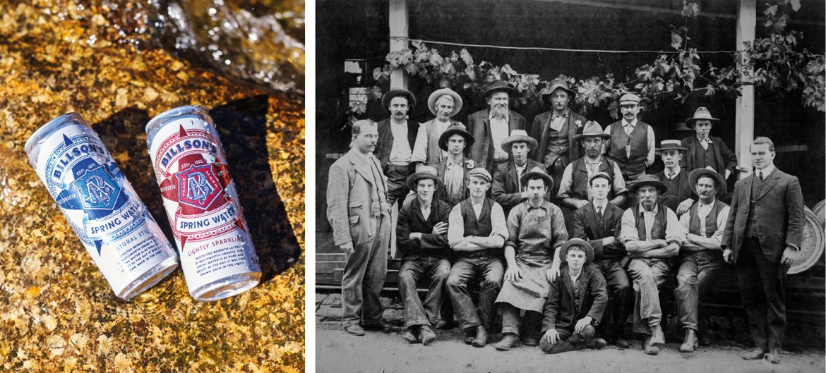 Billson's Brewery workers with Alfred Billson (far right) c. 1880 (image reproduced with the permission of the Burke Museum, Beechworth)