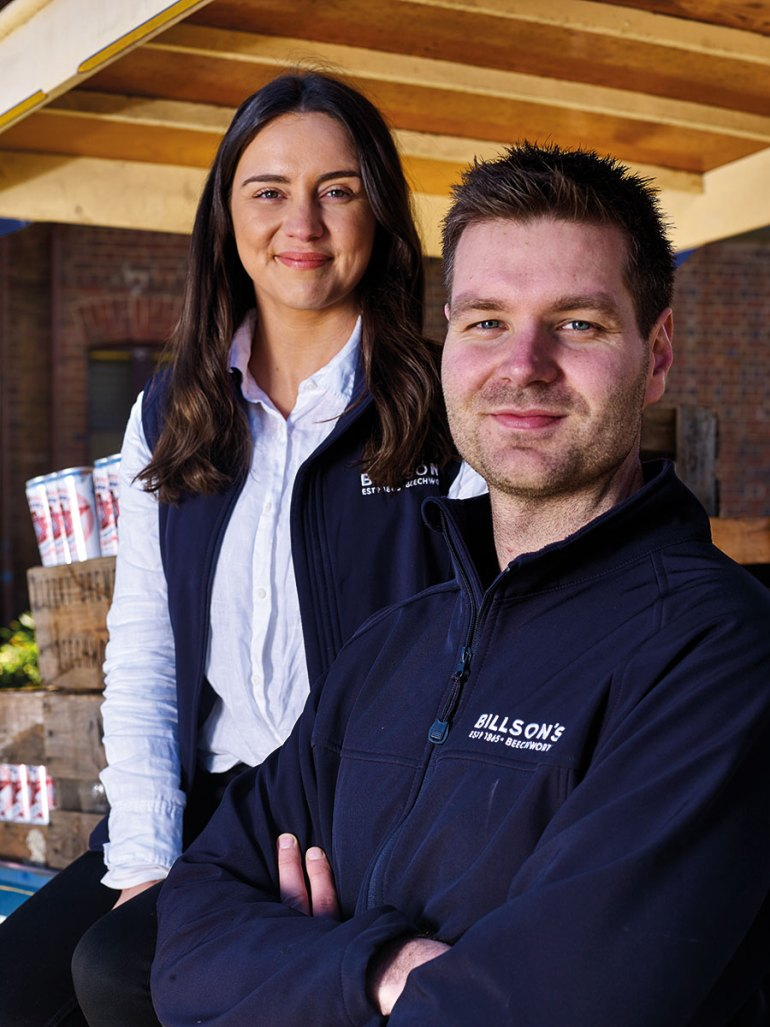 Nathan Cowan and Felicity Cottrill - new energetic owners of Billson's