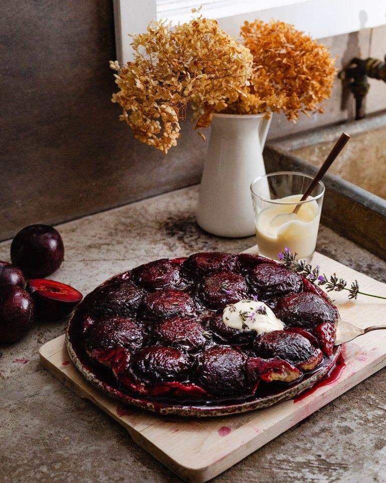 Queen Garnet Plum Tarte Tatin recipe