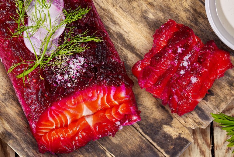 Pickled Beetroot Cured Ocean Trout