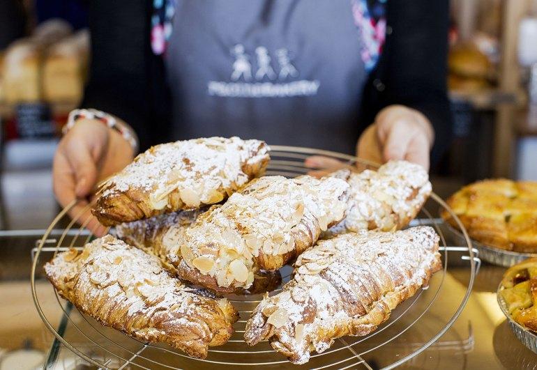 Racine Bakery's almond croissants