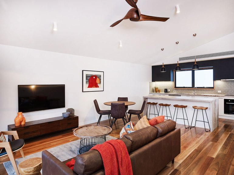 Townhouse level 2 living space