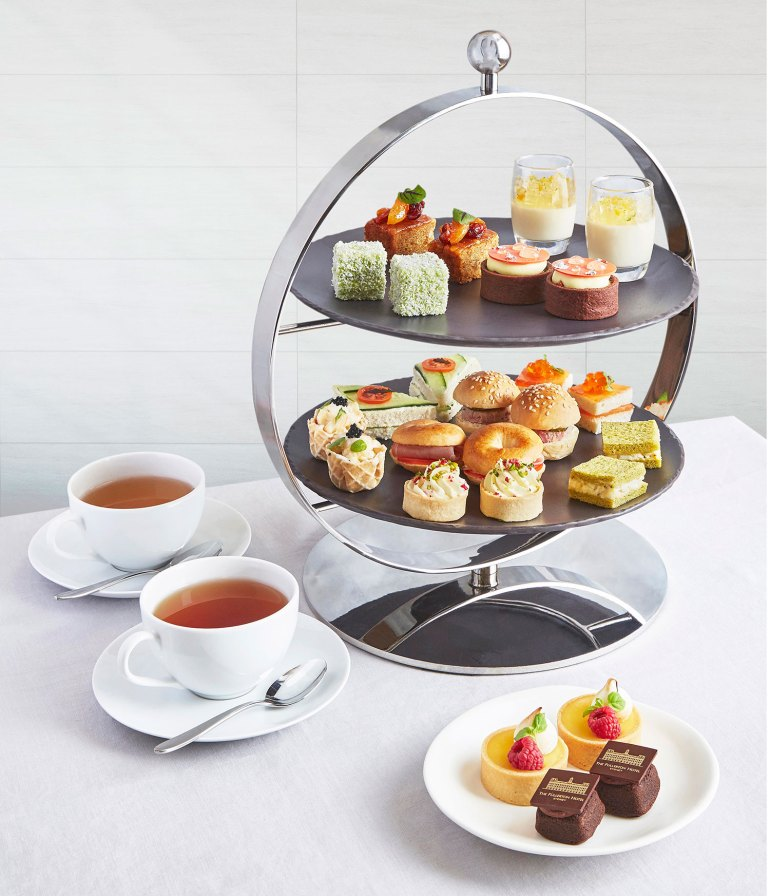 The two-tiered tower of delights - Afternoon Tea at the Fullerton, Sydney