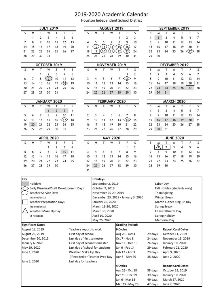 Hisd School Calendar 2020 HISD academic calendar for 2019 20 is finalized — with a new