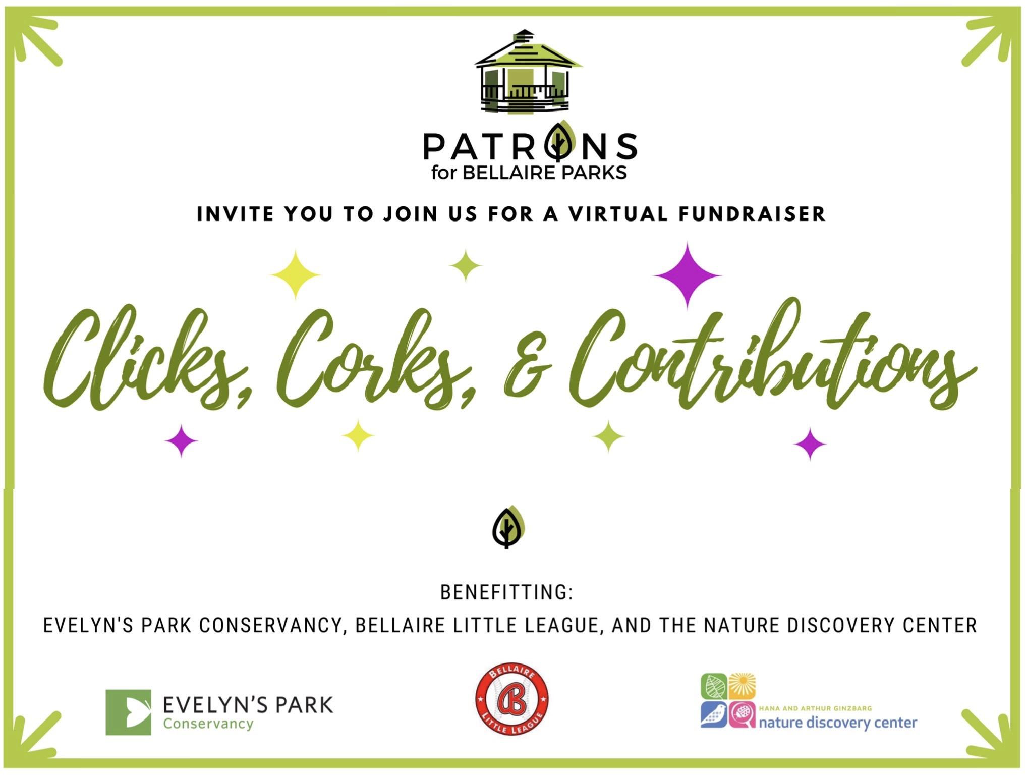 Clicks & Corks: Bellaire parks Patrons launch virtual fundraising gala