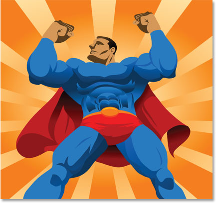 Graphic of strong, confident Superman-like figure. Change your Fear, Change Your Life!
