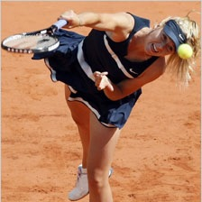 sharapova on follow through