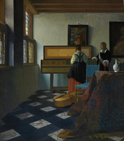 Image result for vermeer and the music lesson