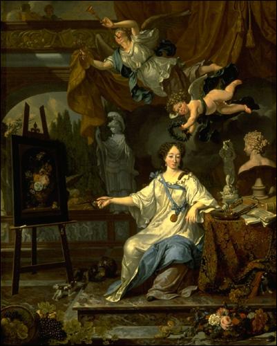 Allegory of Painting by Van Musscher
