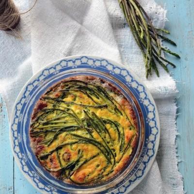 Clafoutis d'asparagi selvatici