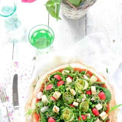 Pizza al farro con verdure primaverli per il nuovo numero di Taste & More