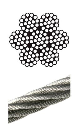 3mm 7×19 wire stainless steel wire assembly