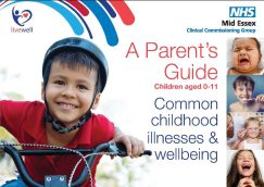 Front cover - a parent's guide to common childhood illnesses and wellbeing