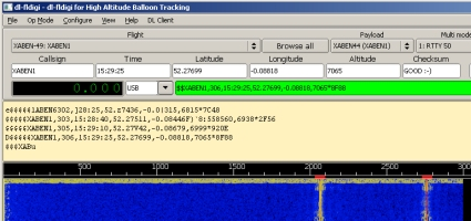 Decoding balloon telemetry data using DL-FLDigi