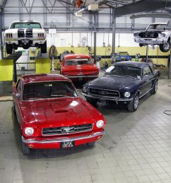 a few of the ford mustangs we restore in our workshop [ 1171 x 1149 Pixel ]