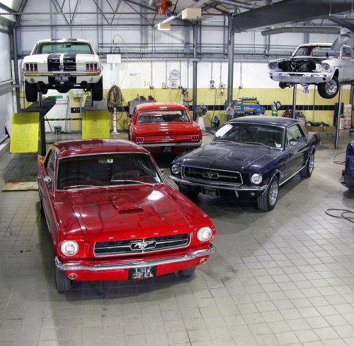 small resolution of a few of the ford mustangs we restore in our workshop