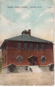 Essex High School, Essex, NY (Postcard)