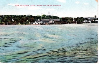 View of Essex, NY, from steamer (Postcard)