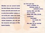 Old Dock House Restaurant flyer